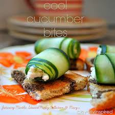 cool cucumber bite appetizer recipe featuring martha stewart