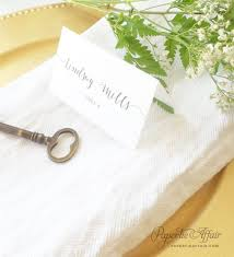 folded table place cards wedding place cards wedding escort card calligraphy script wedding