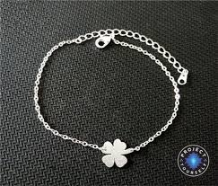 stainless charm bracelet images Lovely stainless steel lucky four leaf clover charm bracelet jpg