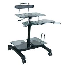 Compact Computer Desk Mobile Rolling Cart Compact Computer Desk Mobile Computer Desks Uk