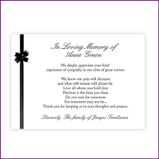 thank you cards for funeral card invitation sles memorial thank you cards classic design
