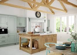 cuisine provencale avec ilot cuisine rustique contemporaine 50 idées de meubles en bois kitchens
