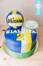 for a voleyball player the jersey cake with volley ball artsy