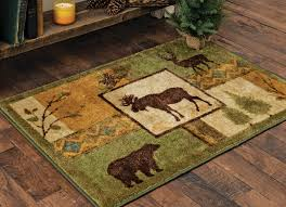 Forest Rug Rustic Wildlife Rugs Including Moose And Bear Rugs Black Forest