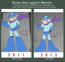 Mega Man Memes - draw this again meme evil copy megaman by tanlisette on deviantart