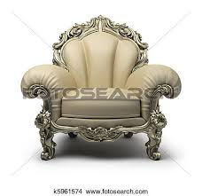 Clipart Armchair Drawings Of Luxurious Armchair K5961574 Search Clip Art