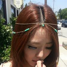 forehead headbands wholesale hot summer fashion women bohemian metal chain