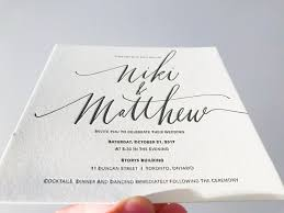 letterpress invitations niki matthew s modern calligraphy wedding invitations