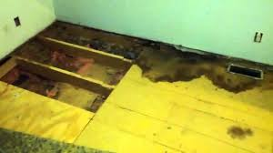 Is It Ok To Put Laminate Flooring In A Bathroom Mobile Home Floor Repair Nasty Nasty Job Youtube