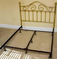 wesley allen queen size brass headboard with metal bed frame ebth