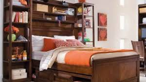 mesmerizing full size storage bed with bookcase headboard and at