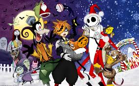anime halloween wallpaper kingdom hearts halloween town hd desktop wallpaper