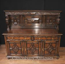 Buffet Kitchen Furniture by Antique Oak Jacobean Sideboard Server Buffet Kitchen Furniture Ebay