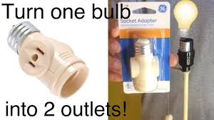 turn light socket into outlet ge 2 outlet socket adapter from home depot youtube