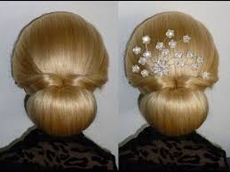 hairstyles with a hair donut easy und quick prom wedding hairstyle donut hair bun updo