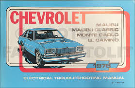 1978 chevy malibu and monte carlo foldout wiring diagram original