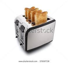 Bread Shaped Toaster Toast Toasted Bread Popping Toaster Stock Photo 566879467
