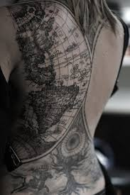 coolest world map tattoos ever