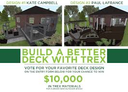 enter the build a better deck with trex sweepstakes for the chance