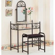black glass vanity set with stool steal a sofa furniture outlet