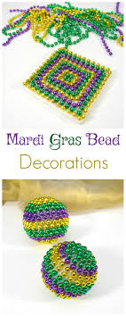 mardi gras decorations to make with 4 boys diy mardi gras bead decorations