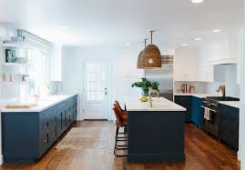 what color to paint two tone kitchen cabinets before and after two toned kitchen reno home bunch