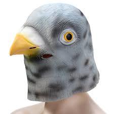 2017 novelty latex pigeon head mask animal mask for halloween
