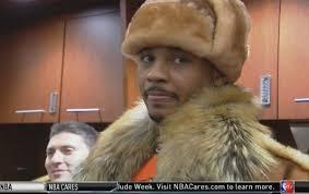 Hat Meme - carmelo anthony wears fur hat gets meme treatment larry brown