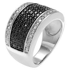 set ring 1 10 ct t w cut diamond pave set ring in sterling silver