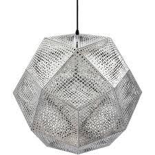 Geometric Pendant Light by Nyekoncept 225563 Elke Silver Ceiling Pendant Light In Geometric
