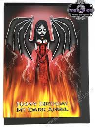 night moth gothic card happy birthday my dark angel