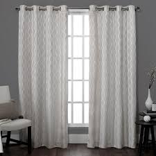 White And Grey Curtains Grommet Border Curtains Drapes Window Treatments The