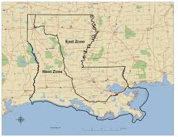 Louisiana Parishes Map by Maps And Descriptions Of Waterfowl Hunting Zone Options