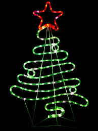 flowing ribbon style tree led rope light silhouette