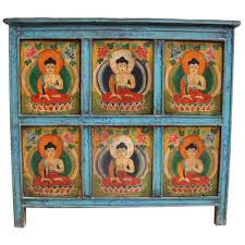 credenza tibetana credenza tibetana base celeste 104x95x38 codice ma 2776 etnicart