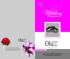 wedding program cover wedding programme cover design lawsolutionsmedia