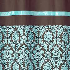 Brown Turquoise Curtains Turquoise And Brown Bathroom Fabric Bath