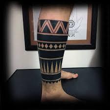 Lower Leg Tattoo Ideas 60 Tribal Leg Tattoos For Men Cool Cultural Design Ideas