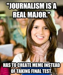 Journalism Meme - reporting for duty