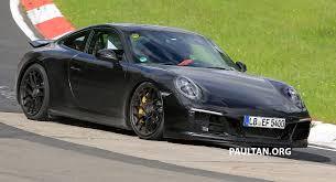 Porsche 911 Gts - spied porsche 911 carrera gts facelift at the u0027ring