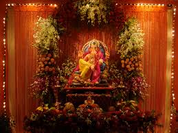 Flower Decoration For Home Ganesh Flower Decoration Pictures