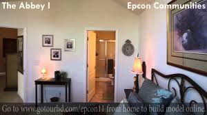 epcon communities floor plans the abbey home model video epcon communities youtube