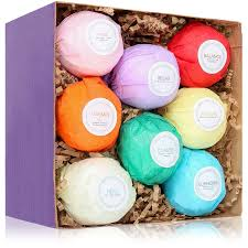 amazon com 8 usa made vegan bath bombs kit gift set ideas
