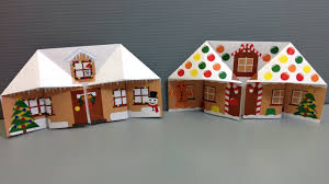 make your own origami christmas gingerbread house youtube