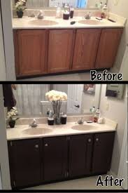 stained wood kitchen cabinets bathroom cabinets refinishing bathroom cabinets painting