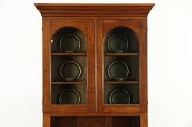 antique bookcase glass doors sold pennsylvania walnut 1850 u0027s antique bookcase or cupboard
