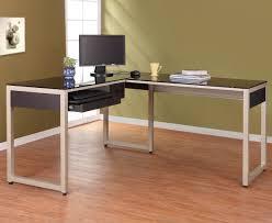 L Shaped Glass Desks Glass Top L Shaped Glass Desk All About House Design Beautiful L
