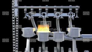 4 cylinder engine 4 cylinder engine working with explosions loop hd stock