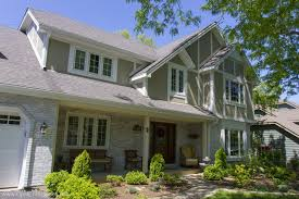 Hardie Board by James Hardie Siding In Traditional Red With Arctic White Trim