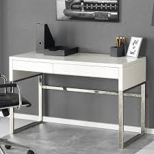 bureau blanc laqué bureau design rectangulaire blanc laqué albin so inside